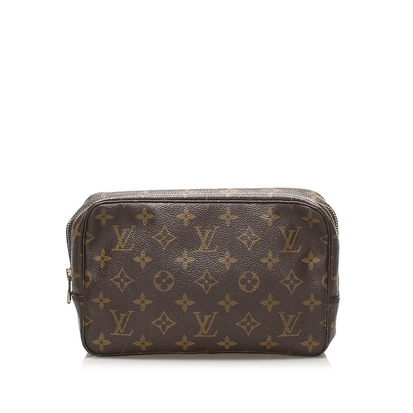 Brown Louis Vuitton Monogram Trousse Toilette 23