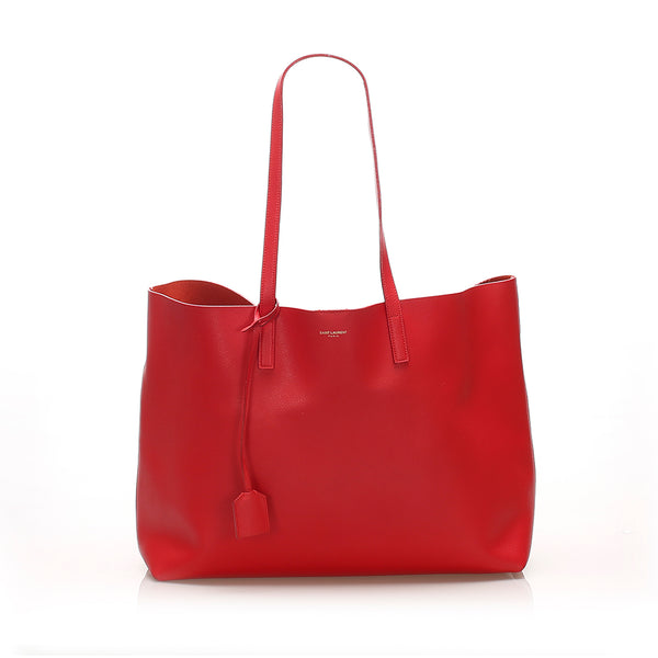 Red YSL EastWest Leather Tote Bag