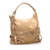 Beige Burberry Gosford Bridle Leather Satchel Bag