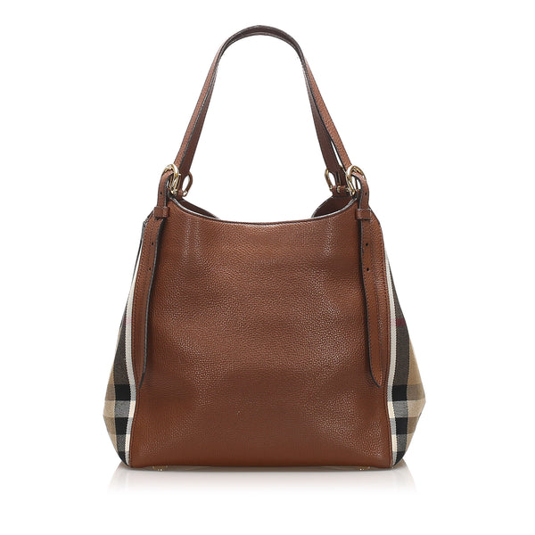 Brown Burberry Canterbury Leather Tote Bag