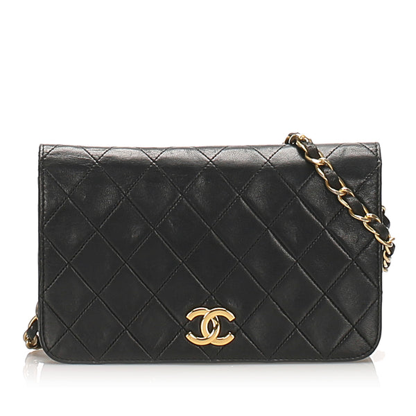 Black Chanel CC Timeless Lambskin Leather Flap Bag