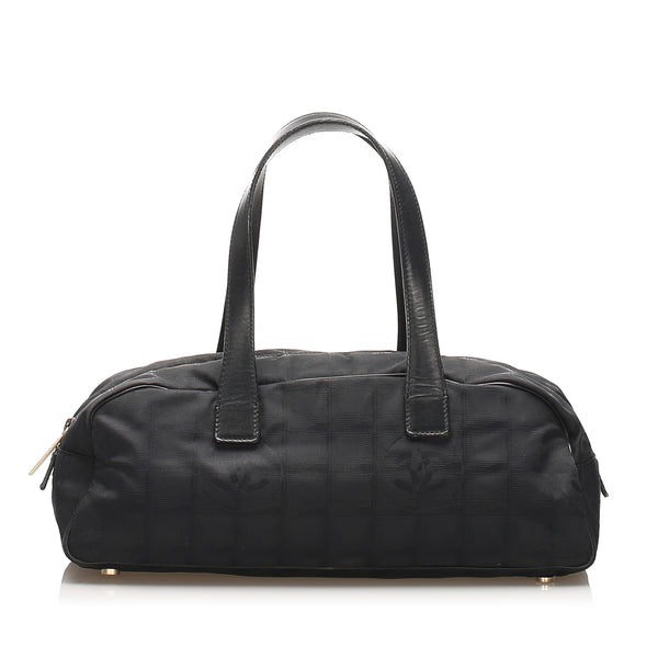 Black Chanel New Travel Line Canvas Handbag Bag