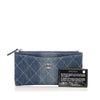 Blue Chanel CC Timeless Denim Wallet