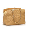 Beige Chanel Caviar Leather Shopping Bag Tote Bag