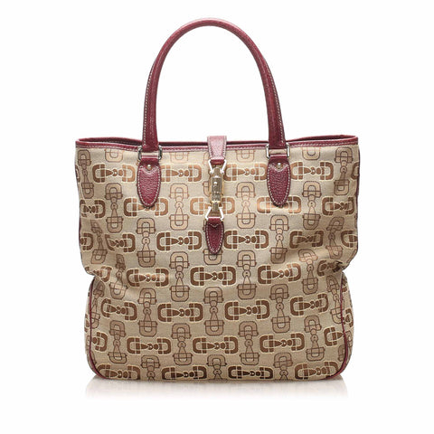 Brown Gucci Guccissima New Jackie Tote Bag