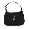 Black Gucci Jackie Satin Shoulder Bag