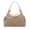Beige Gucci GG Canvas Charmy Shoulder Bag