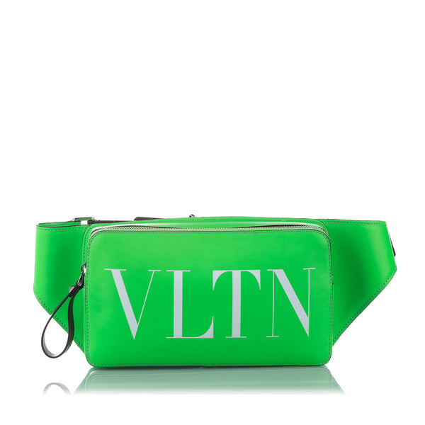 Green Valentino VLTN Leather Belt Bag