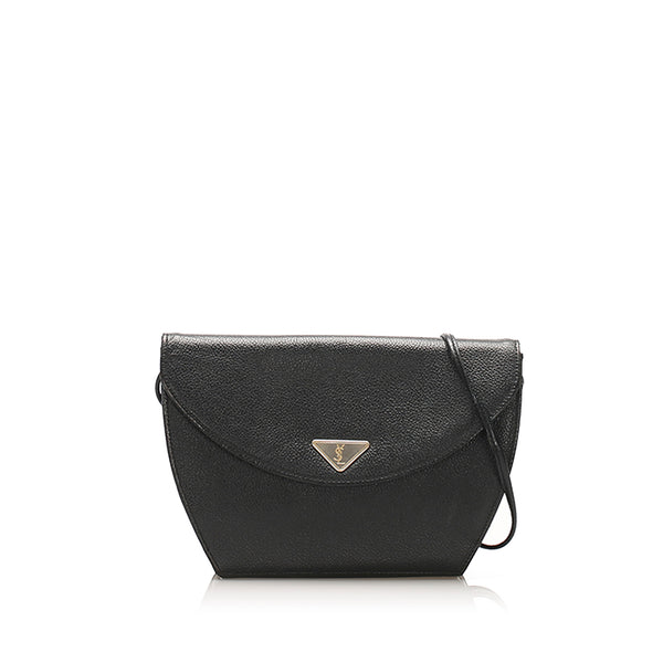 Black YSL Leather Crossbody Bag