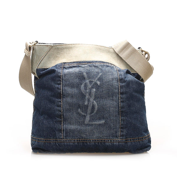 Blue YSL Denim Shoulder Bag