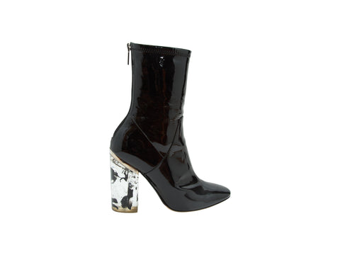 Black Christian Dior Fall/Winter 2015 Patent Boots