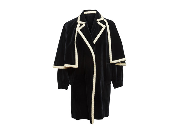 Vintage Navy Yves Saint Laurent Cape Coat