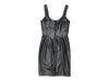Vintage Black Claude Montana Fitted Leather Dress