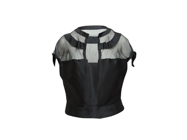 Black Yves Saint Laurent Spring/Summer 2009 Top