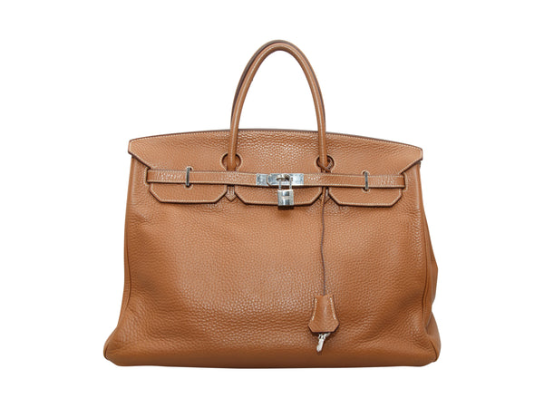 Brown Hermes Clemence Birkin Bag