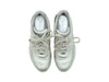 Silver Chanel Leather Sneakers