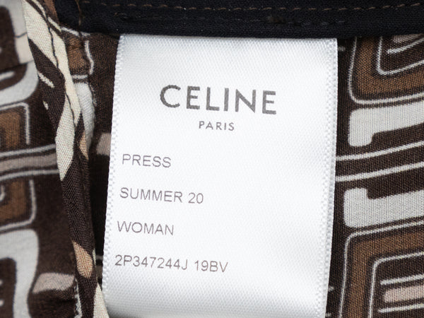 Brown & Cream Oscar de la Renta Textured Embellished Coat