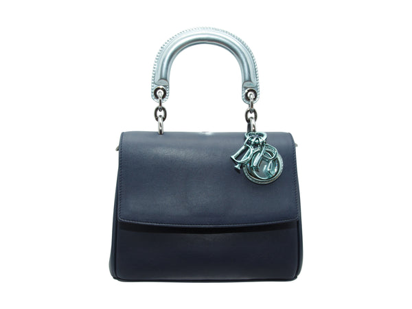 Blue & Metallic Teal Christian Dior Be Double Satchel