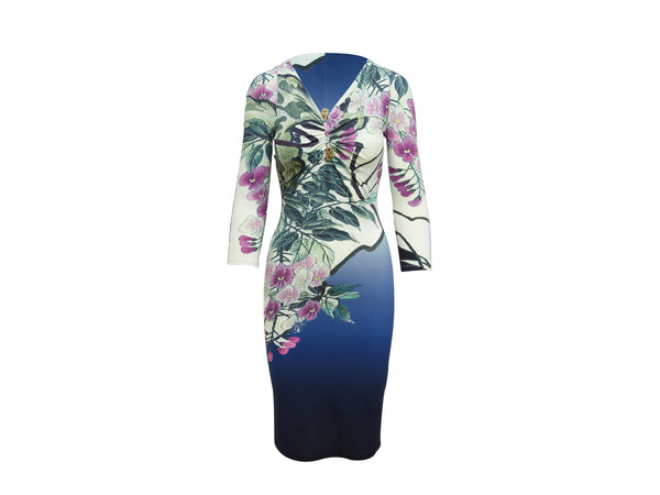 Multicolor Roberto Cavalli Floral Stretch Dress