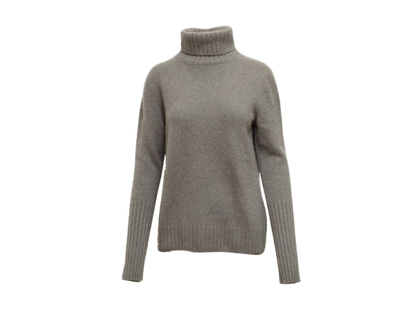 Grey Loro Piana Cashmere Turtleneck Sweater