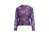 Purple Vintage Givenchy Lace Blouse