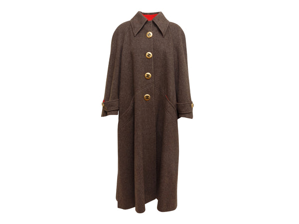 Brown Chanel Wool Coat