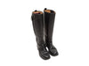 Black Hermes Leather Knee-High Riding Boots