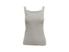 Grey Chanel Stretch-Cotton Knit Tank Top