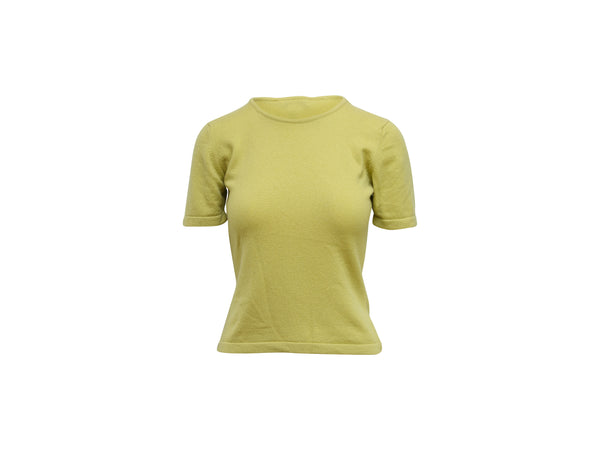 Apple Green Celine Cashmere Sweater Top