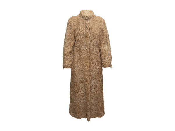 Vintage Beige Grosvenor Persian Lamb Long Coat
