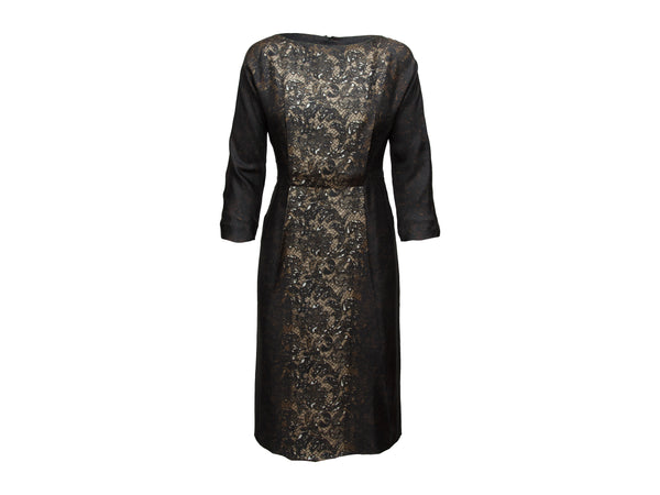 Brown Prada Fall/Winter 2008/2009 Lace Dress