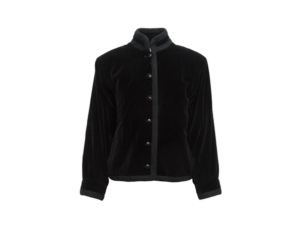 Vintage Black Yves Saint Laurent Velvet Jacket