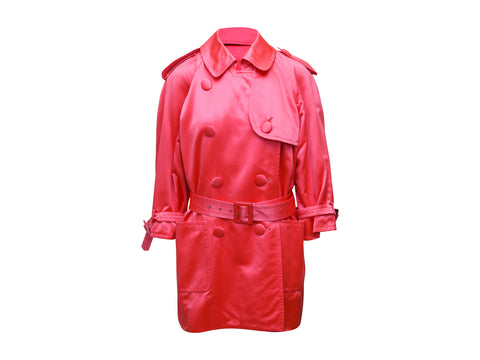 Pink Vintage Yves Saint Laurent Rive Gauche Short Trench Coat
