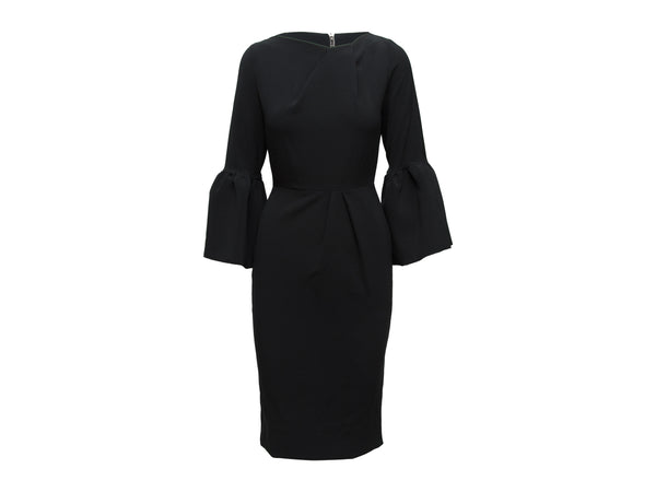Black Roksanda Bell Sleeve Dress