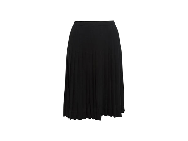 Black Vintage Chanel Pleated Skirt