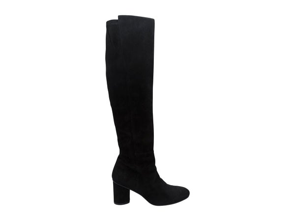 Black Stuart Weitzman Suede Knee-High Boots