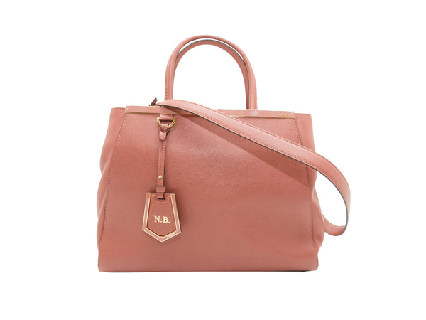 Dusty Rose Fendi Leather Medium 2Jours Satchel