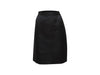 Black Vintage Saint Laurent Rive Gauche Silk Satin Skirt