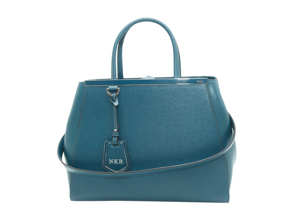 Teal Fendi Leather 2Jours Satchel