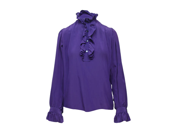 Vintage Purple Saint Laurent Silk Top