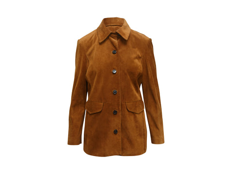 Brown Frame Suede Jacket