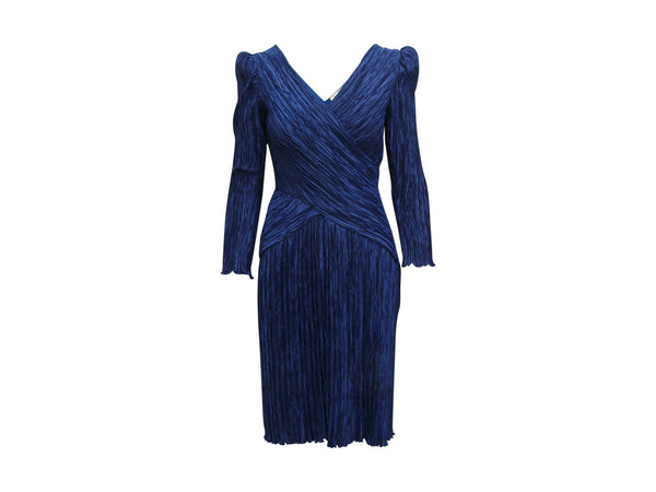 Navy Blue Vintage Mary McFadden Pleated Dress