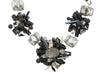 Black & Clear J Mendel Statement Beaded Necklace