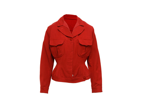 Red Vintage Junior Gaultier Stretch Wool-Blend Jacket