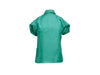 Teal Versace Collection Short-Sleeve Blouse