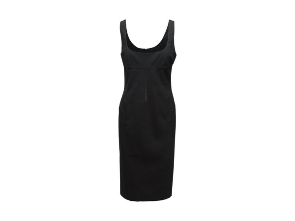 Black D&G Sleeveless Fitted Dress
