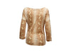 Tan Christian Dior Snakeskin-Printed Top