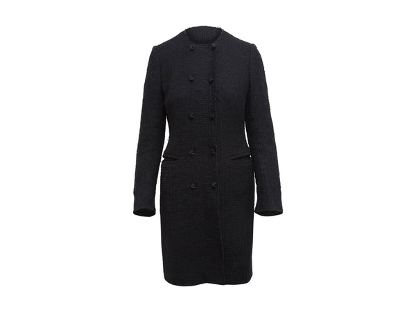 Black Dolce & Gabbana Tweed Coat