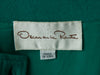 Vintage Green & Black Oscar de la Renta Long Sleeve Dress