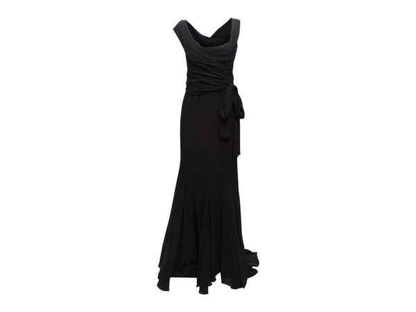 Black Dolce & Gabbana Pleated Gown